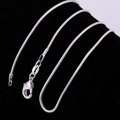 5/10/20Pcs 925 Silver Chain Necklace Women Men Lot Jewelry 16-30inch 5