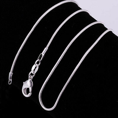 Wholesale 20Pcs Snake Chain Necklace 925 Sterling Silver Charm Jewelry 16-30inch 4