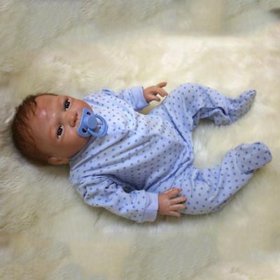 """20"""" Full Body Realistic Reborn Dolls Lifelike Baby Boy Newborn Doll Gifts 8"""