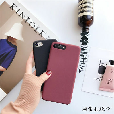 Ultra-thin Matte Soft Rubber TPU Case Plush Cover For iPhone 11 Pro Max XR X 8 7 9