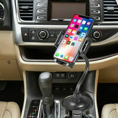 Universal Car Mount Adjustable Gooseneck Cup Holder Cradle for Cell Phone iPhone 8