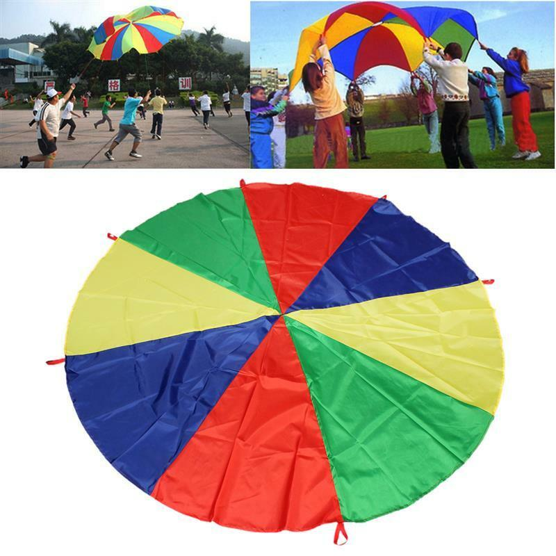 2-4M Kids Play Parachute Large Children Rainbow Outdoor Game Exercise Sport Toy 4