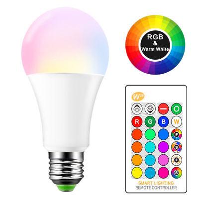 RGB RGBW LED bulb Light Color Change 15W E27 Lamp Bulbs + Remote Controller 2