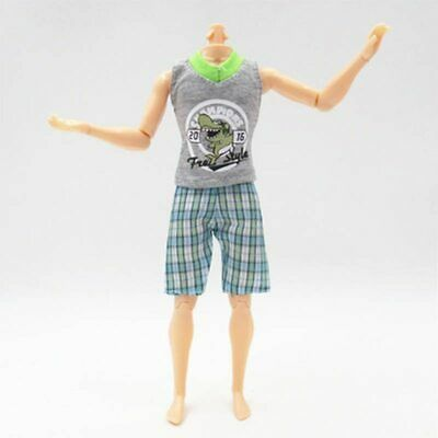1SET 1/6 Casual WearShirt & Trousers Shorts For Ken Doll Outfits Pants Clothes 9
