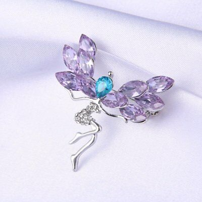 Flower Rhinestone Brooch Pin Women's Wedding Bridal Bouquet Crystal Jewelry Gift 3