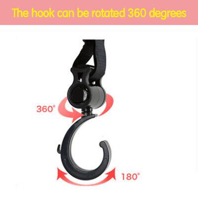 2pcs/Lot Baby Hanger Bag Stroller Hooks Pram Rotate 360 Cart Hook Accessories 12