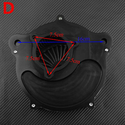 Clarity Matte Black Air Filter Red Cleaner For Harley Touring 2017-19 Softail 18