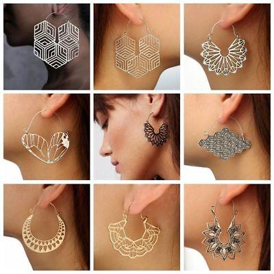 Fashion Bohemia Jewelry Vintage Silver Ear Hook Drop Dangle Tassel Bead Earrings 4
