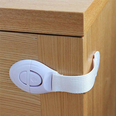 10Pc Baby Kids Child Adhesive Safety Lock For Cabinet Door Drawers Refrigerator~ 6