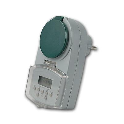 digitale Wochen Zeitschaltuhr, Aussen IP44 max 2000W 230V Schaltuhr Zeitschalter 2