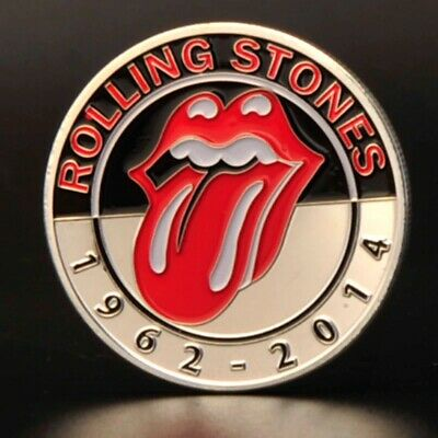 Rolling Stones Silver Coin Rock n Roll Pop Music Band Songs Rockers 60s Retro UK 8