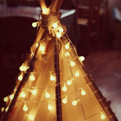 Fairy LED String Lights Christmas Round Ball Blubs Wedding Party Lamp 3M 4M 5M 4