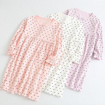 Girls Kids Children Pyjamas long sleeve Nightwear Cotton Night Dress Nightie 3