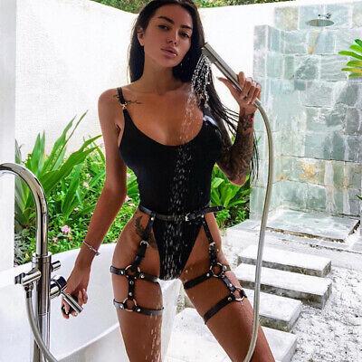 Erotik Leder Körper Gürtel Hose Bondage Reizwäsche Gothic Party Clubwear SM 7