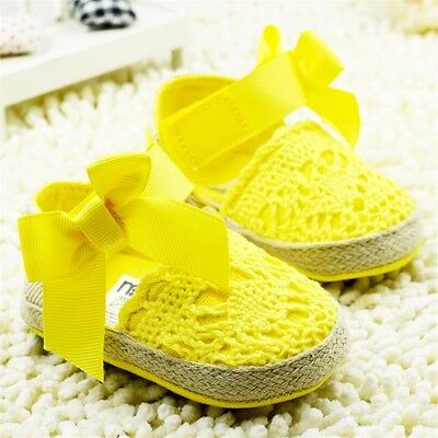 Baby Infant Kids Girl Soft Sole Crib Toddler Newborn Shoes 0-18 M anti-slip NEW 6