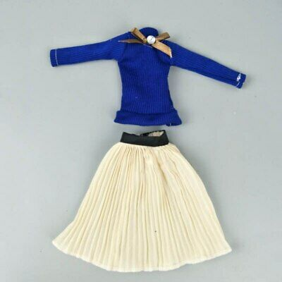 "Fashion Doll Clothes Top Blouses Chiffon Pleated Skirt For 11.5"" Dolls Clothes 10"