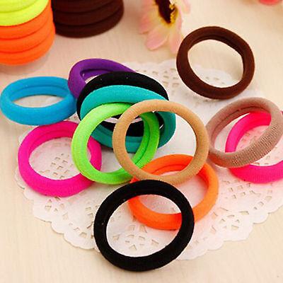Lots 50/100Pcs Girls elastic hair ties band rope ponytail bracelets scrunchie 4