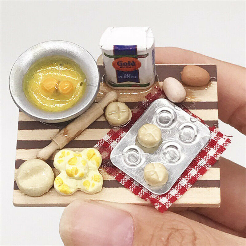 Super Dollhouse Miniature Silver Gas Stove Kitchen Accessories Cooking Tool A3W3