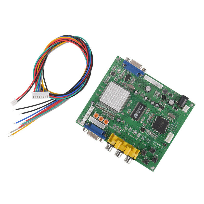 Arcade Game R//CGA//EGA//YUV to VGA H Video Converter Board H9800//S820 D/_X UL
