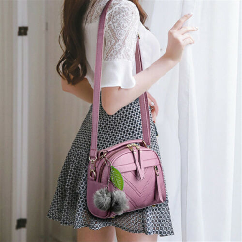 Women Tassel Faux Leather Messenger Bag Shoulder Bags Handbag Crossbody Purse B 3
