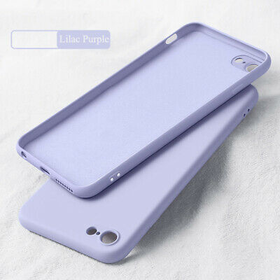 For iPhone 11 Pro Max XS XR 8 7 6s Plus Liquid Silicone Simple Color Case Cover 11