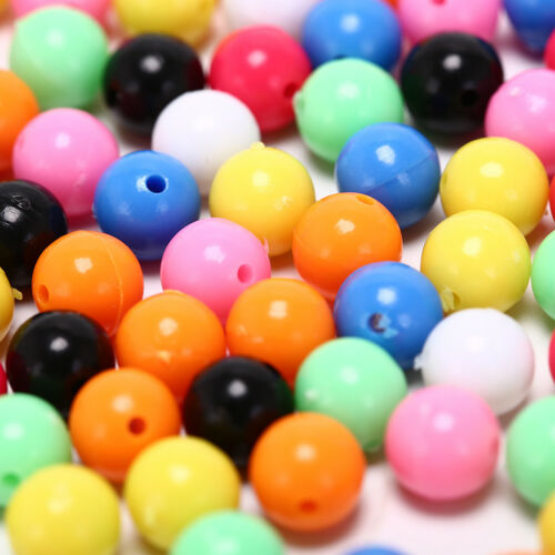 100x round fishing rig beads sea fishing lure floating float tackles 6//8mm P0 KK