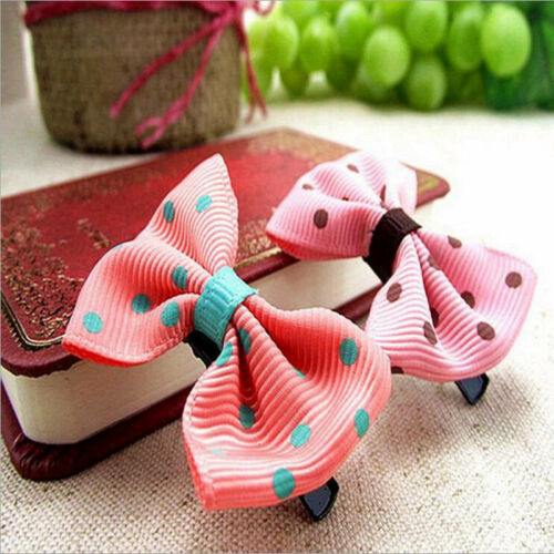 10PCS Bows Snaps Hair Clip Girls Baby Kids Hair Accessories Alligator Clips Gift 8
