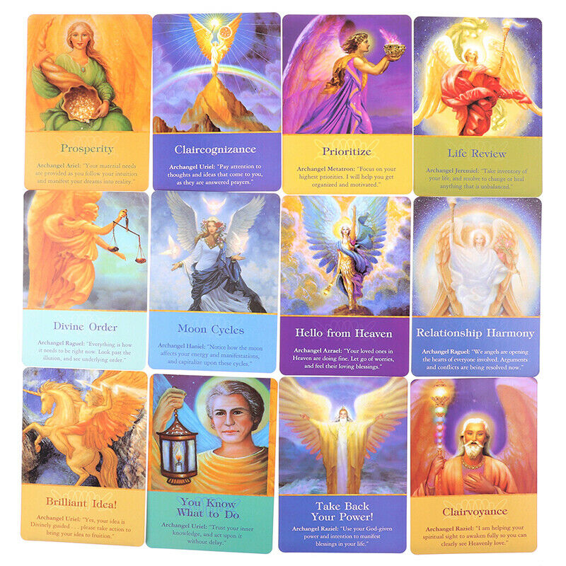 1Box New Magic Archangel Oracle Cards Earth Magic Fate Tarot Deck 45 Cards HU 7