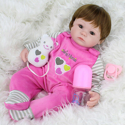 Realistic Handmade Baby Dolls Girl Newborn Lifelike Vinyl Alive Reborn Baby Doll 2
