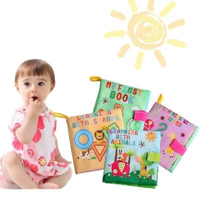 Soft Baby Cloth Book Early Educational Newborn Crib Toys for 0-36 Months Infants 8