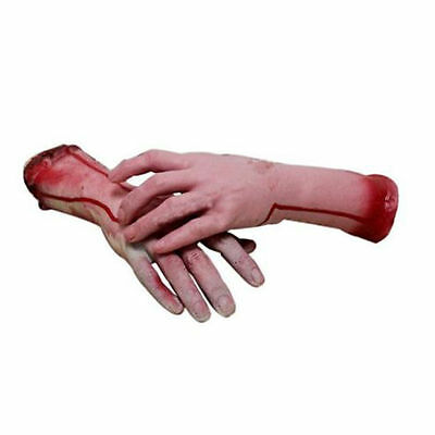Halloween Horror Props Lifesize Bloody Hand Haunted House Party Scary Decoration 9