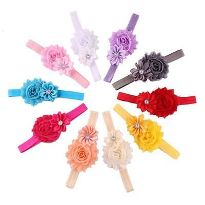 10 Pcs Baby Girls Flower Hairband Soft Elastic Gifts Hair Accessories Pack Band 2