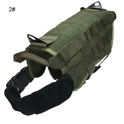 S M L XL Tactical Police Dog Military Vest Service Canine Molle Harness Dog Wear 2