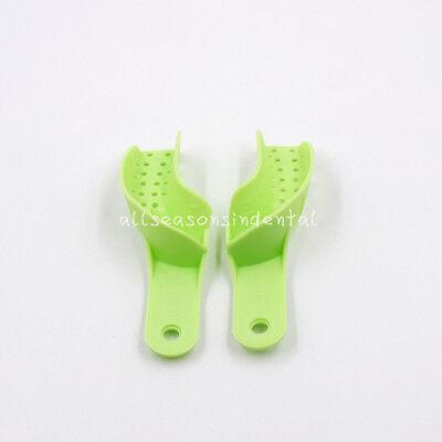 10 Pcs Autoclavable Dental Plastic Impression Trays Central Denture Disposable 9