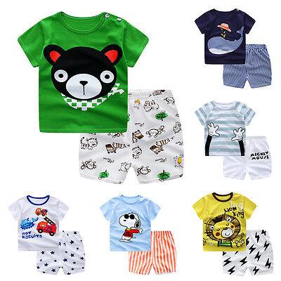 Intenso Verano Bebé Recién Nacido de Niño Camiseta Manga Corta Blusas Pantalones 4
