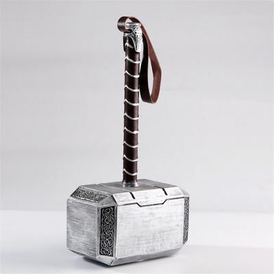 1:1 THE Avengers Full Solid Thor Hammer /Stand Base Replica Cosplay Prop Mjolnir 4