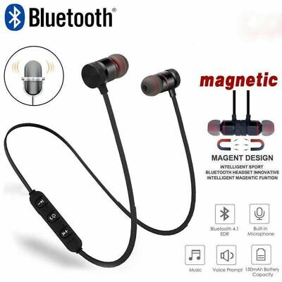 Bluetooth Headphones Magnetic Wireless Stereo Earphones for iPhone Samsung HTC 6