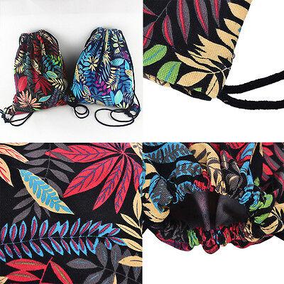 Gym Drawstring Backpack Canvas Draw String Bucket Bag PE Travel Shoulder Bags NT 4