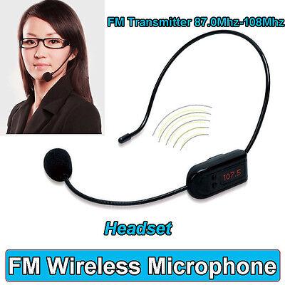 FM Wireless Micphone Headset For Transmitter Loudspeaker Amplifier Voice Booster 11