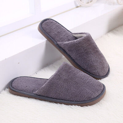 Men Cotton Plush Warm Slippers Home Indoor Winter Slippers Shoes 2