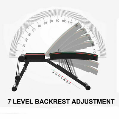 Adjustable Fitness Weight Bench Multi Gym Dumbbell Folding Flat Incline Decline 5