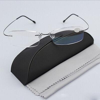 230088ed32143 ... Rimless Glasses Rx Optical Eyeglasses Memory Titanium Spectacles  FrameBest 2
