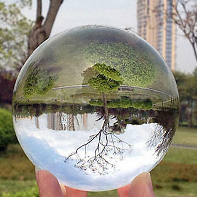 Clear Glass Crystal Ball Healing Sphere Photography Props Lensball Decor 30-80MM 5
