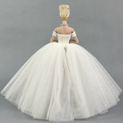 """Doll Dress Costume Elegant Lady Wedding Dress For 11.5"""" Doll Clothes Outfits Toy 8"""