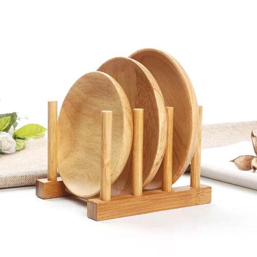 Holz Sink Bowl Teller Abtropfgestell Rack Topf Deckel Halter Lagerregal RacRSPF
