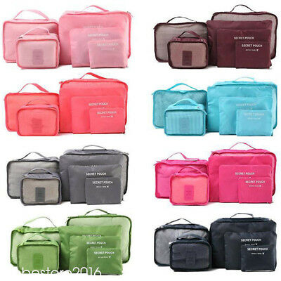 6pcs Travel Bags Waterproof Clothes Storage Luggage Organizer Pouch Packing Cube 2