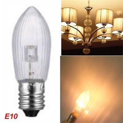 10x LED 0,2W E10 10-55V Topkerzen Riffelkerzen Spitzkerzen Ersatz Lichterkette E 4