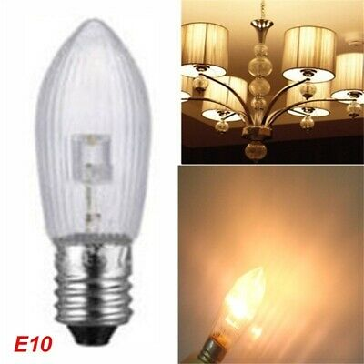 50 LED 0,2W E10 10-55V Topkerzen Riffelkerzen Spitzkerzen Ersatz Lichterkette gh 2