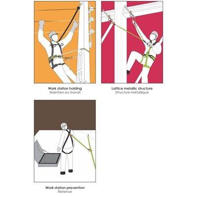 Seil 2m Baumpflege Sicherheitsgurt bis 140kg geprüft Klettergurt inkl
