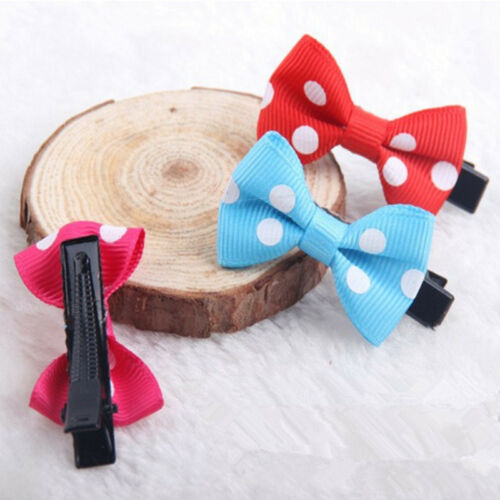 10PCS Bows Snaps Hair Clip Girls Baby Kids Hair Accessories Alligator Clips Gift 4